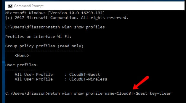 TWO steps  Find all Wi-Fi passwords with 1 command - Windows 10_8.1_8_7 show wifi password using cmd